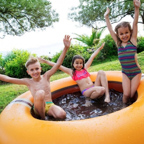The Shrunks | Doppelter Spaß: Pool & Trampolin in einem