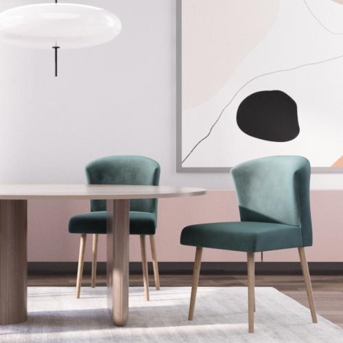 RODIER INTERIEURS | Samtige Esszimmerstühle mit edlem Charme