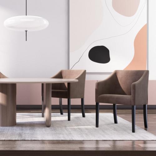 Guy Laroche Home | Samtige Esszimmerstühle im skandinavischen Stil