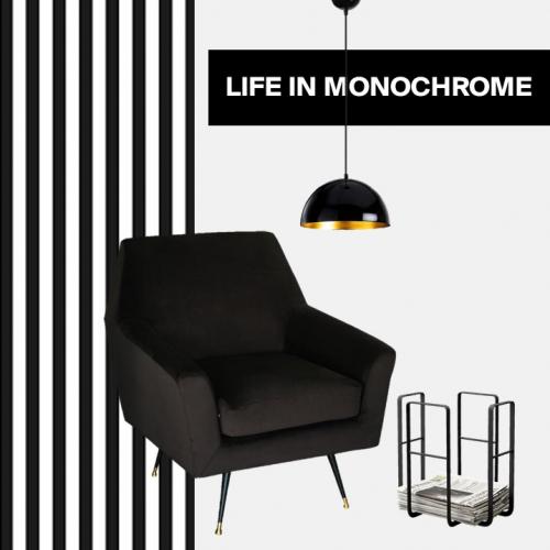 Monochrom | Einrichtungsideen in Schwarz-Weiß
