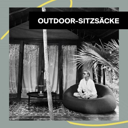 Outdoor Poufs | Die trendigsten Sitzsäcke für den Außenbereich