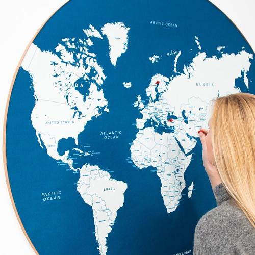 Wall Discovery | Moderne Weltkarten für Weltenbummler