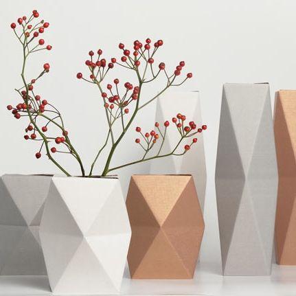 Snug. | Geometrical Paper Vases