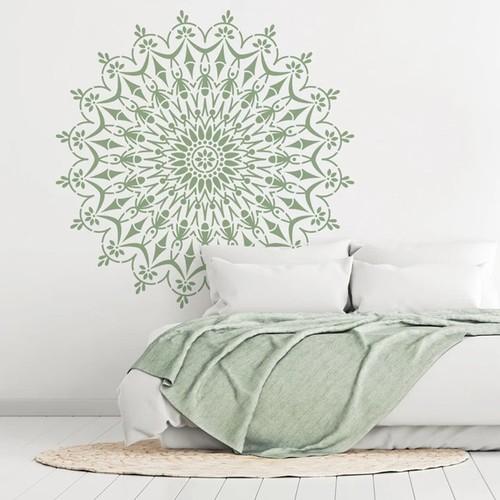 Mandala Stencils   Ornamentale Wanddeko: DIY-Mandalas