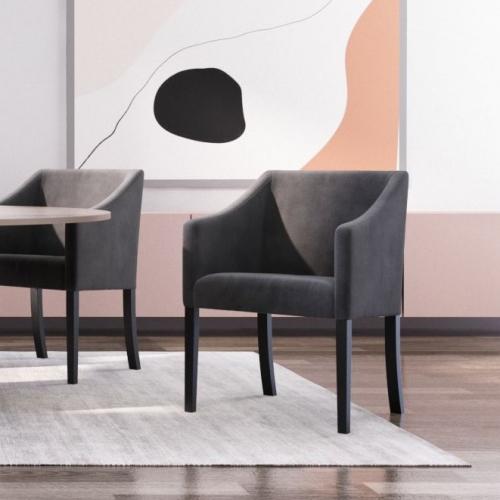 Guy Laroche Home   Samtige Esszimmerstühle im skandinavischen Stil