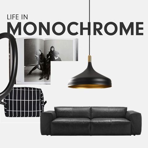 Monochrom | Zeitlose Einrichtung in Schwarz-Weiß
