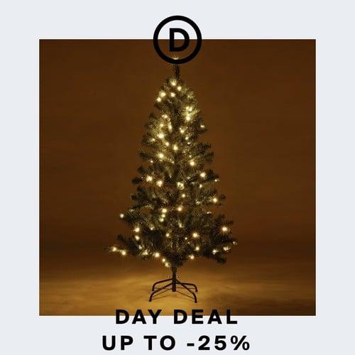Deal des Tages | Dicht & beleuchtet: Festlicher Weihnachtsbaum