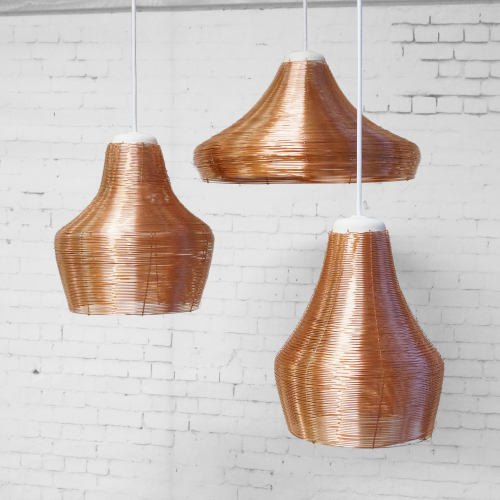 Studio Lorier | Braided Copper Lamps