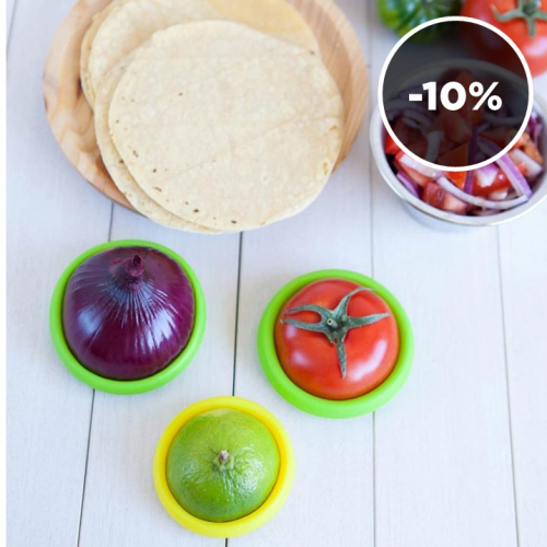 Food Huggers | Genious Reusable Food Savers