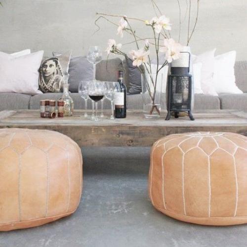 Bohemia  | Moroccan Leather Pouffes