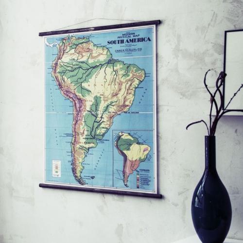 Erstwhile   Weltkarten im angesagten Vintage-Stil