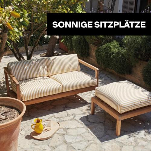 Sonnige Sitzplätze | Schön sitzen, den ganzen Sommer über