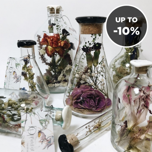 Field of Hope | Recycled Glass & Dried Flowers