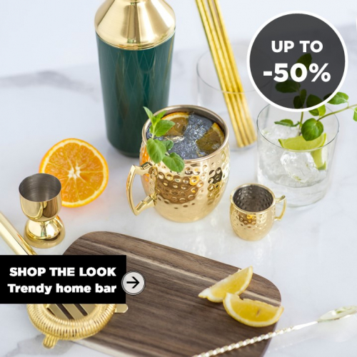 SHOP THE LOOK | Trendy Home Bar