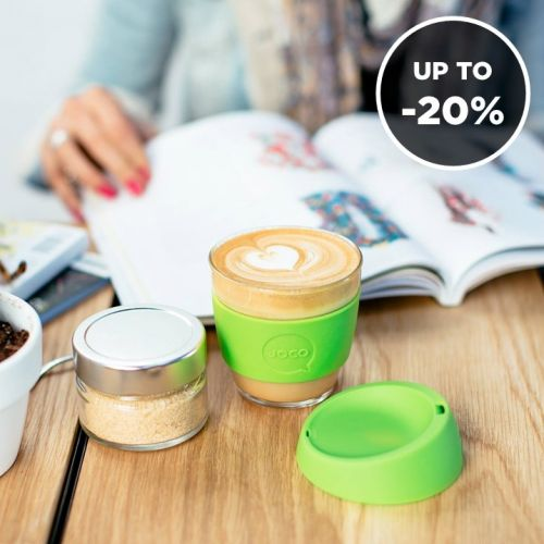 JOCO | Eco Glass Cups for Hot & Cold Drinks