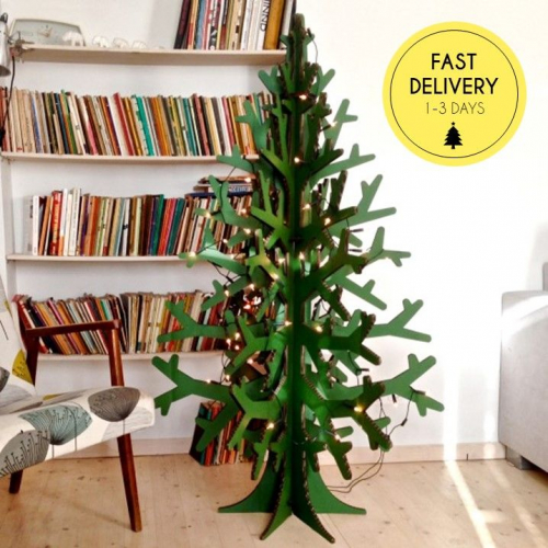 Handle With Care | Cardboard Christmas Trees