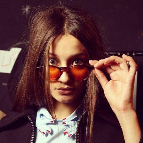 Kyme | Fashion Forward Leather Sunglasses