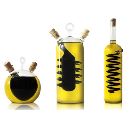 NYcruets | Hand Blown Oil & Vinegar Dispensers