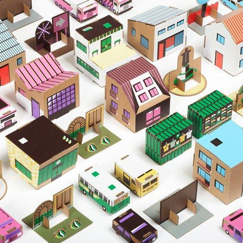 Papierowe Miasto | Cardboard Fold-up Paper Town