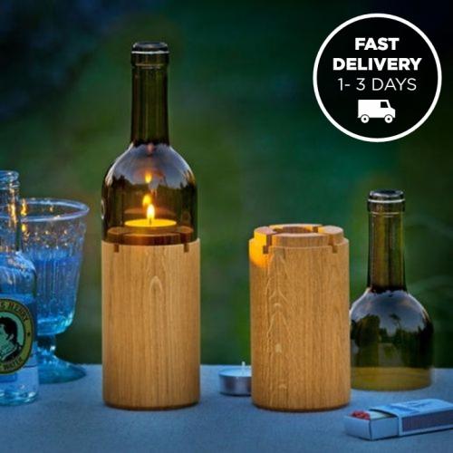 Side By Side | Festive Wine Bottle Lights