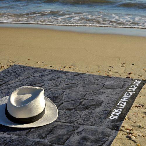 Sous les pavés, la plage | Rebellious Beach Towels