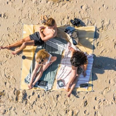 Zandlaken | Die SANDsation: Sandfreie Stranddecken